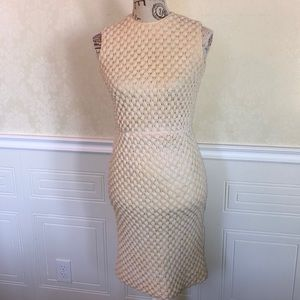 Vintage Cream Sleeveless Midi Dress